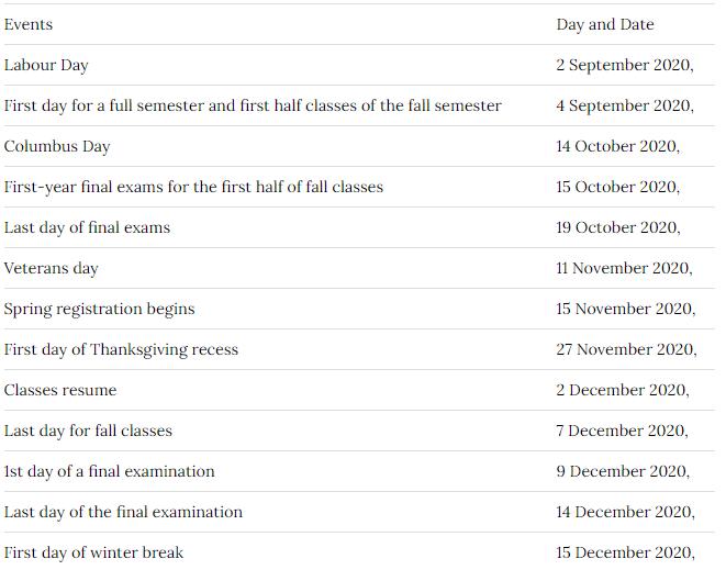 Northeastern University Academic Calendar 2021 | Important Update