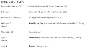 University of California Berkeley Calendar 2020-2021