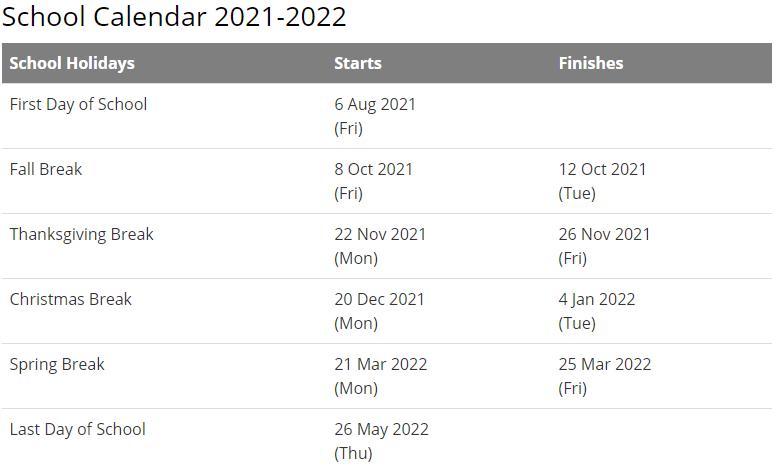 Dale County School Calendar 2021-2022
