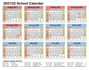 Escambia County School Calendar 2021-2022