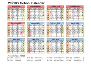 Escambia County School Calendar 2021 2022 pdf
