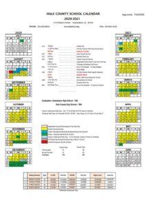 Hale County School Calendar 2021 pdf