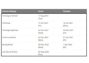 Fairfield City School Terms 2021 2022 pdf