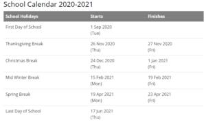 Georgetown Public Schools Calendar 2021