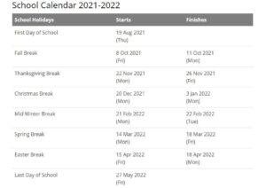 Georgetown University Academic Calendar 2021 2022 pdf