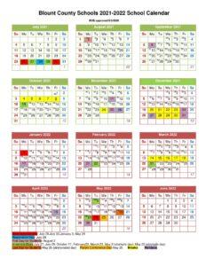 Blount County School Calendar