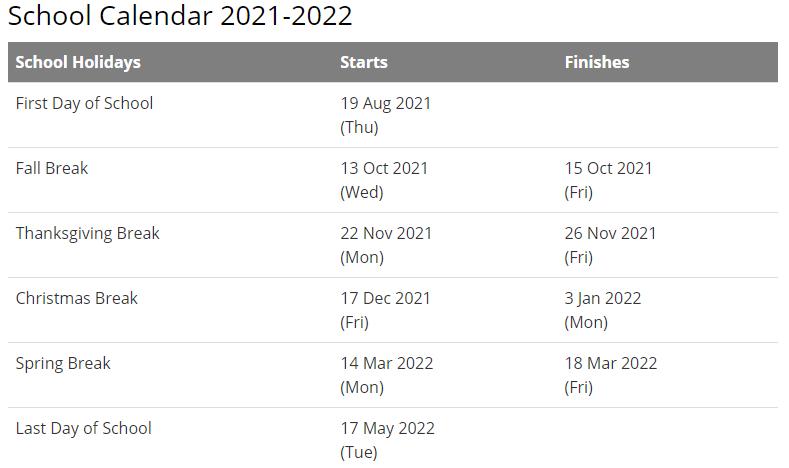 Miami University Calendar 2021-2022
