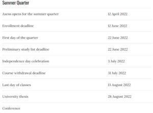 Summer Quarter 2022