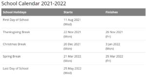 Columbia University Calendar 2021- 2022