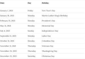 Duke University Academic Calendar 2021-2022
