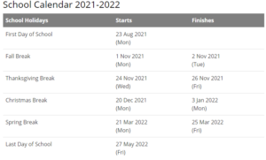 Gonzaga University Calendar 2021-2022